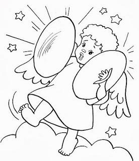 desenho de anjos para pintar