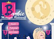 juegos de besos Barbie Midnight Runaway