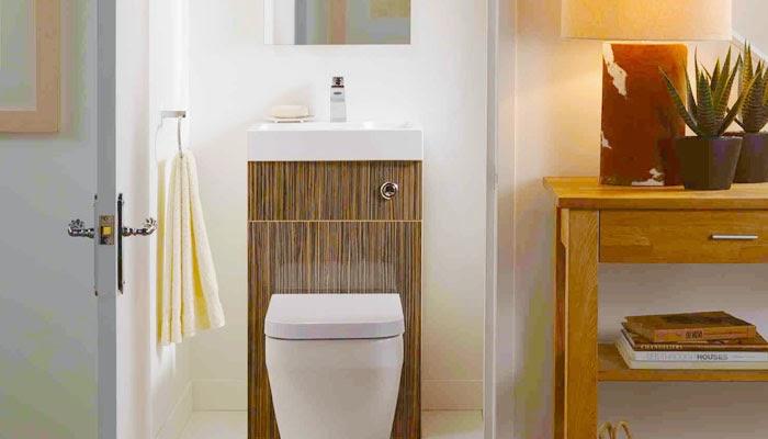 Small toilet interior design photo