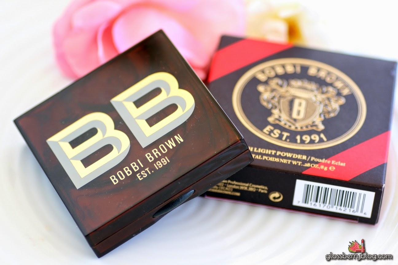 Bobbi Brown - High Light Powder - Pink Glow review swatch glossberry שימר היילייטר המלצה בובי בראון גלוסברי בלוג איפור וטיפוח ביוטי
