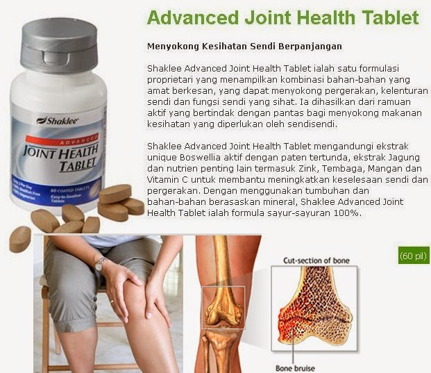 vitamin untuk sendi Shaklee Advanced Joint Health