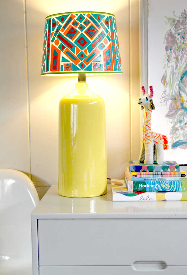 An easy cheap diy lamp shade project the jungalowthe jungalow - Diy lamp shade ...