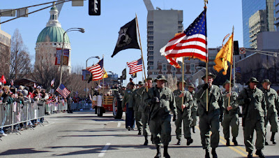 St. Loius parade for veterans of Iraq