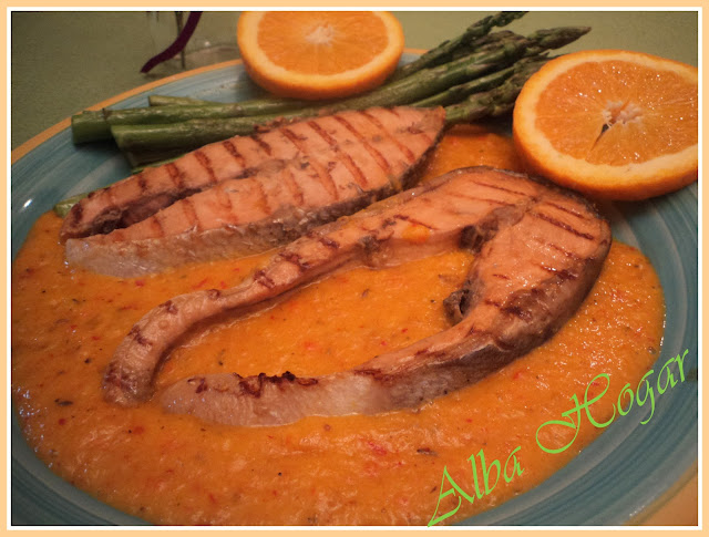 salmón a la naranja alba hogar