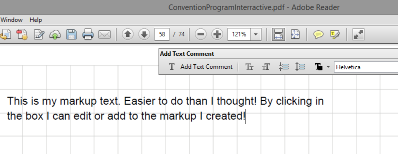 how to add text to a pdf adobe reader