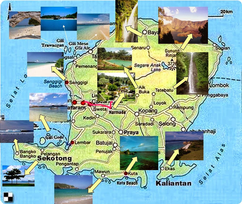 LOMBOK TOURISM MAP