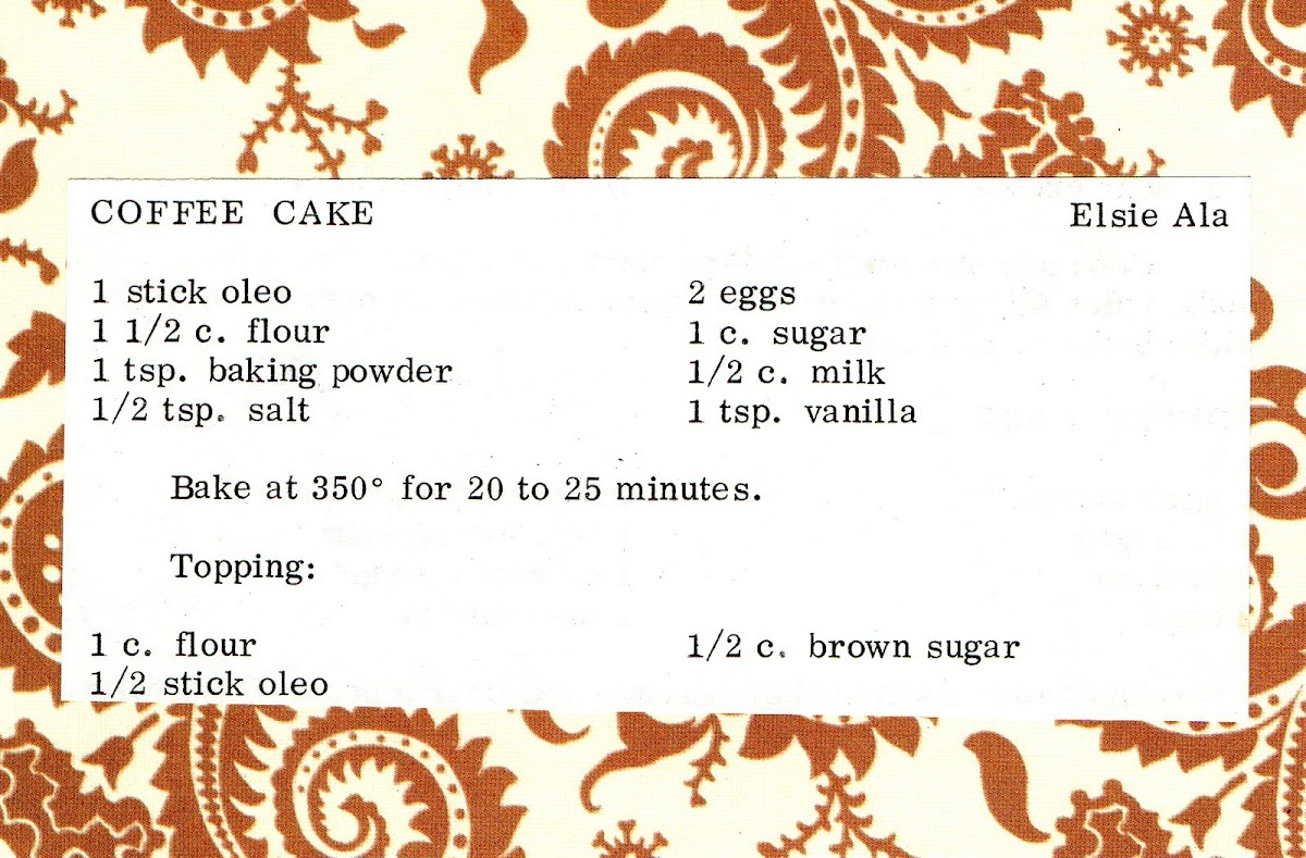 Coffee Cake (quick recipe)