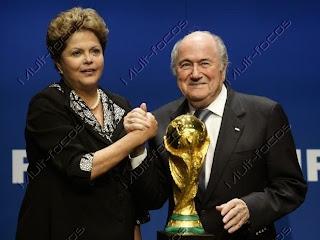 Dilma Rousseff  e Joseph Blatter