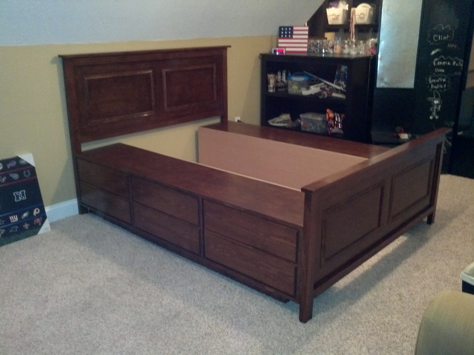 The Bullock 5 Queen Platform Storage Bed Diy