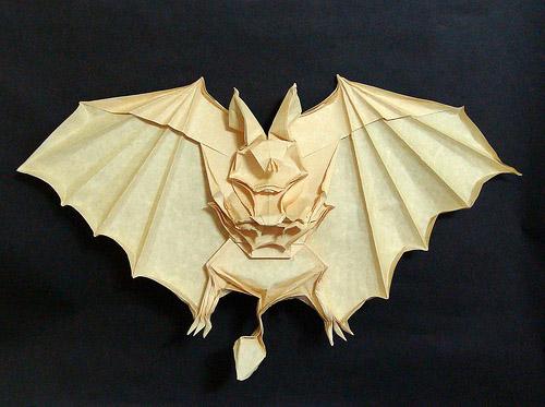 murcielago origami papel
