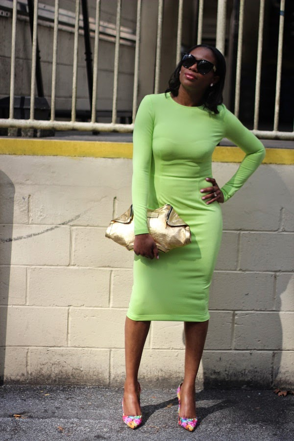 5TH AND MERCER, BODYCON DRESS, FITTED DRESS, MIDI DRESS, LONG SLEEVE DRESS, GREEN DRESS, LIME GREEN DRESS, FLORAL PUMPS, FLORAL SHOES, manolo blahnik, bb pumps, SPRING TRENDS, green earrings, gold bag, alexander mcqueen, rocksbox, shopbop, black sunglasses, oversized sunglasses, spring fashion, trending, fashion trends, fashionnista, stylist,  sunglasses, oversized sunglasses, hair in a pony tail ,monday motivation, monday, blogger, blog fashion blog, MIDDLE PART, HAIR STYLES, MIDDLE PART BUM, ATLANTA BLOGGER, BLOGGER STYLE, ASHON, STYLE, FASHION BLOG, FASHION BLOGGER, F BLOGGER, STYLE BLOG, STYLEBLOGGER, STYLIST, STYLISH, STREETSTYLE, PERSONAL STYLE, PERSONAL STYLE BLOGGER, BLOGGER, BLOG, INSTA STYLE, INSTA FASHION, WHAT TO WEAR, OOTD, FASHION OF THE DAY, STYLE OF THE DAY, FASHION AND STYLE, fashionSTYLE, WHAT TO WEAR FOR This season, MUST HAVE, winter TRENDS, fashion TRENDS, blogger style,   social media, fashion is my passsion, socially famous, social famous, Nigerian blogger, Canadian blogger