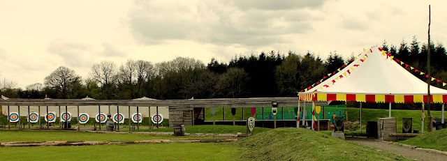 the tournament field at bluestone wales row of archery boards
