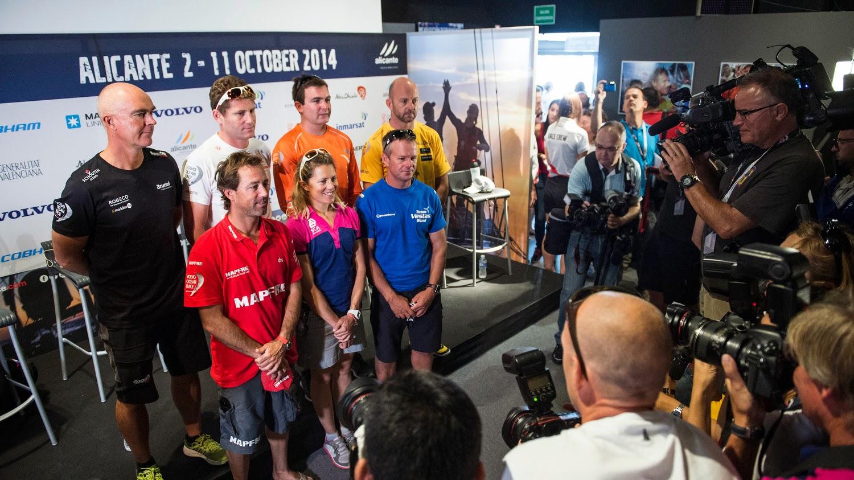 Sam Davies, Charles Caudrelier, Iker Martinez... les sept skippers de la Volvo Ocean Race 2014.