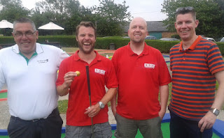 The Crazy Golfers at Tea Green. From l-r Lester Coles, Geoff Doyle, Luke Ashmead and me