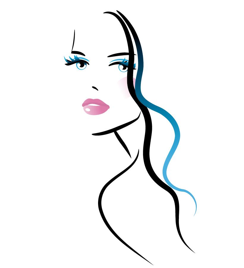 手書きのエレガントな女性 handpainted elegant women vector イラスト素材1