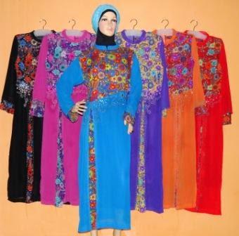 Gamis Pesta Lebaran Modern 2014 Gp069 Grosir Baju Muslim