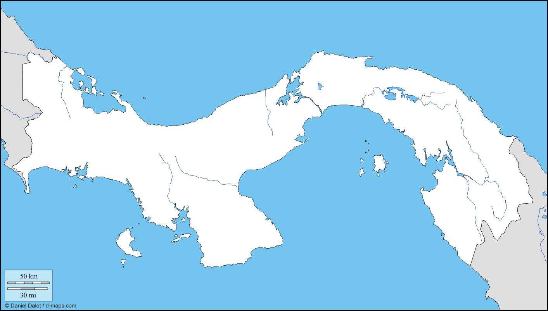 Mapa de Panamá para pintar