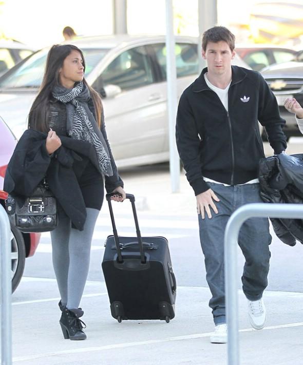 Messi y novia