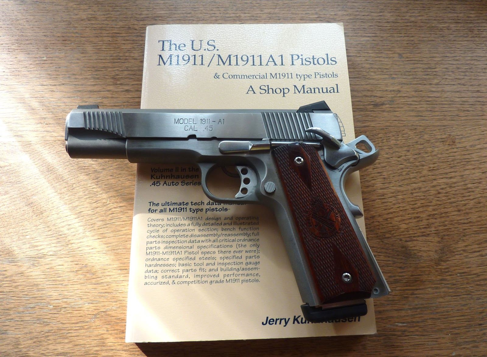 m1911 pistol essay The m1911 is a single-action, semi-automatic, magazine-fed, recoil-operated pistol chambered for the 45 acp cartridge it served as the standard-issue sidearm for the united states armed forces from 1911 to 1986.