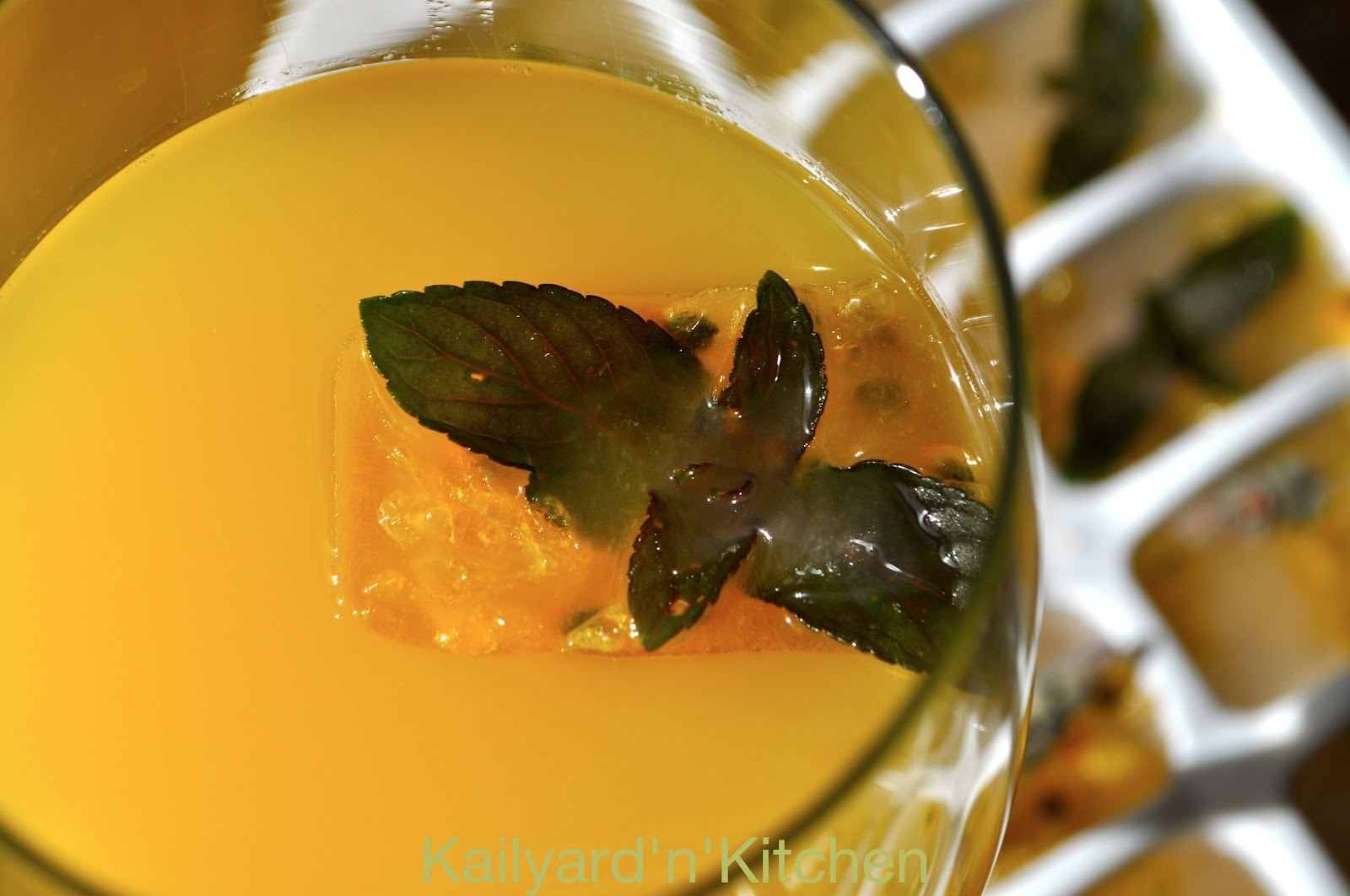 PASSION FRUIT LAVENDER MINT ICE CUBES | Kailyard'n'Kitchen