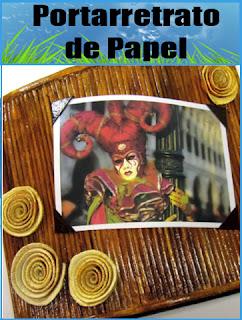 Portarretrato de Papel de Diario (Manualida