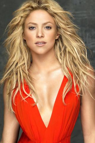 Hot-Shakira-red+dressed-wallpaper