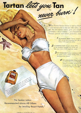 Tartan pin up vintage ads