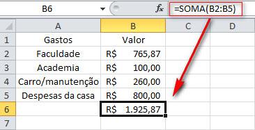 Excel 2010 - AutoSoma