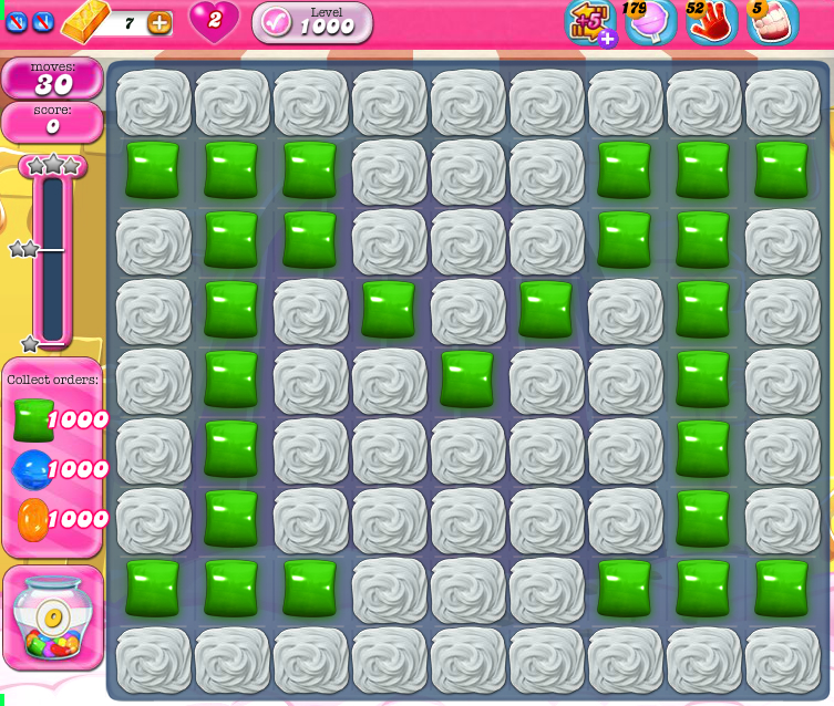 Candy Crush Saga 1000