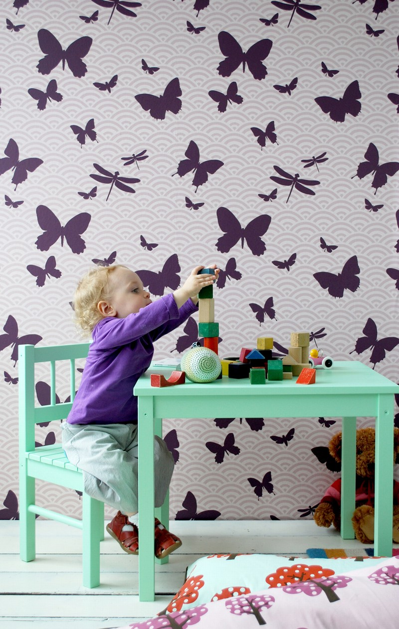 Fun funky baby wonderful wallpapers and wall stickers we for Fun wallpaper for walls
