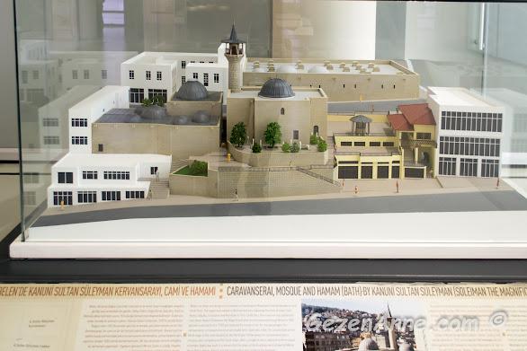 Belen'de Kanuni Sultan Süleyman kervansarayı, cami ve hamamı maketi, Hatay arkeoloji müzesi