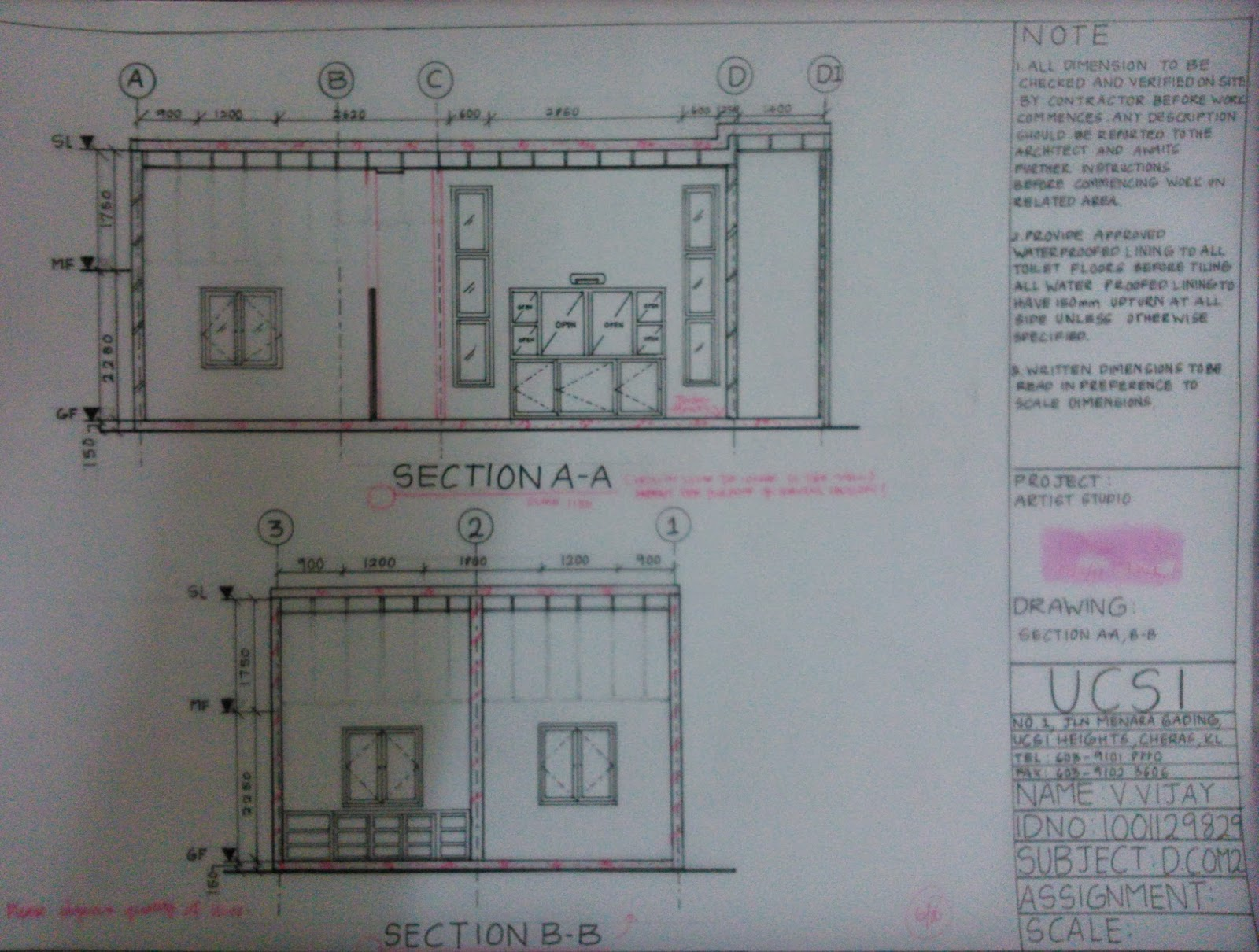 Vjs Interior Architecture Journey Section Drawings