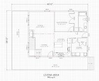 planos de vivienda de madera con medidas en pies pulgadas