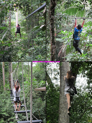 Skytrex Shah Alam Malaysia Extreme Challenges longest flying fox, monkey bar, balancing, tarzan rope swing