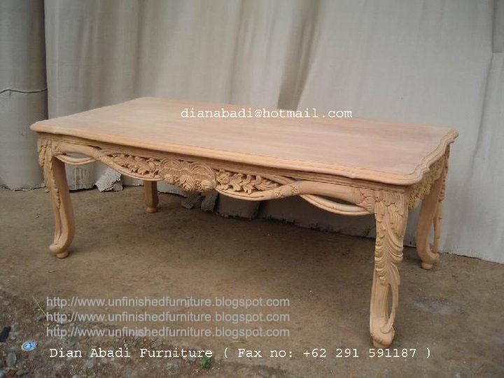 High Quality Unfinished Mahogany Furniture
