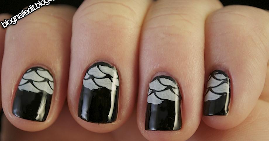 B&W Mini Self-Challenge: Day 3 - Nailed It   The Nail Art Blog