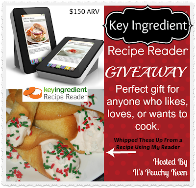 Enter to win our 2nd Key Ingredient Recipe Reader Giveaway. Ends 12/14.