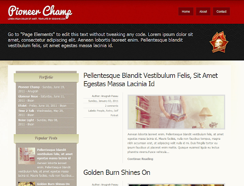 Pioneer Champ Blogger Theme