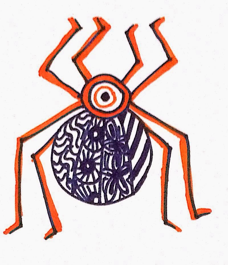 Zentangle Inspired Spider