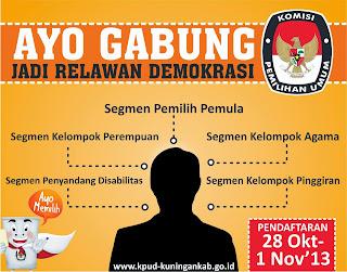 "Rekrutmen Relawan Demokrasi KPU PEMILU 2014 ""RELASI"""
