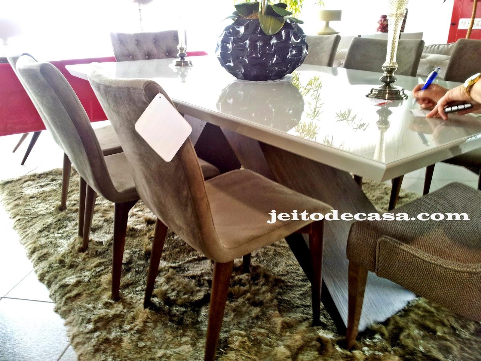 Mesas de jantar modelos que vi por aqui! Jeito de Casa Blog de  #913A52 1600x1200