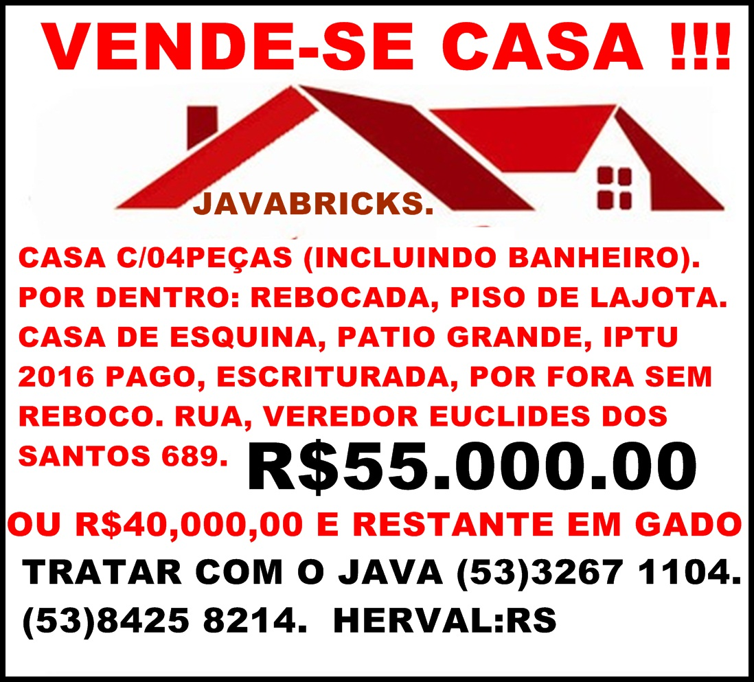 VENDE-SE CASA (JAVABRICKS)