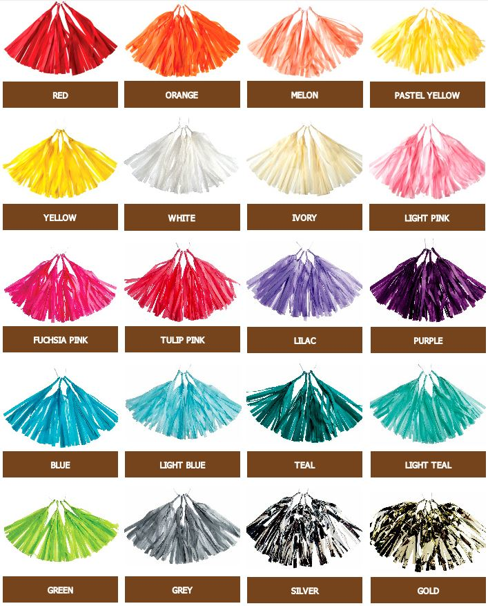 Tissue paper tassels garlands shop buy or DIY and party ideas
