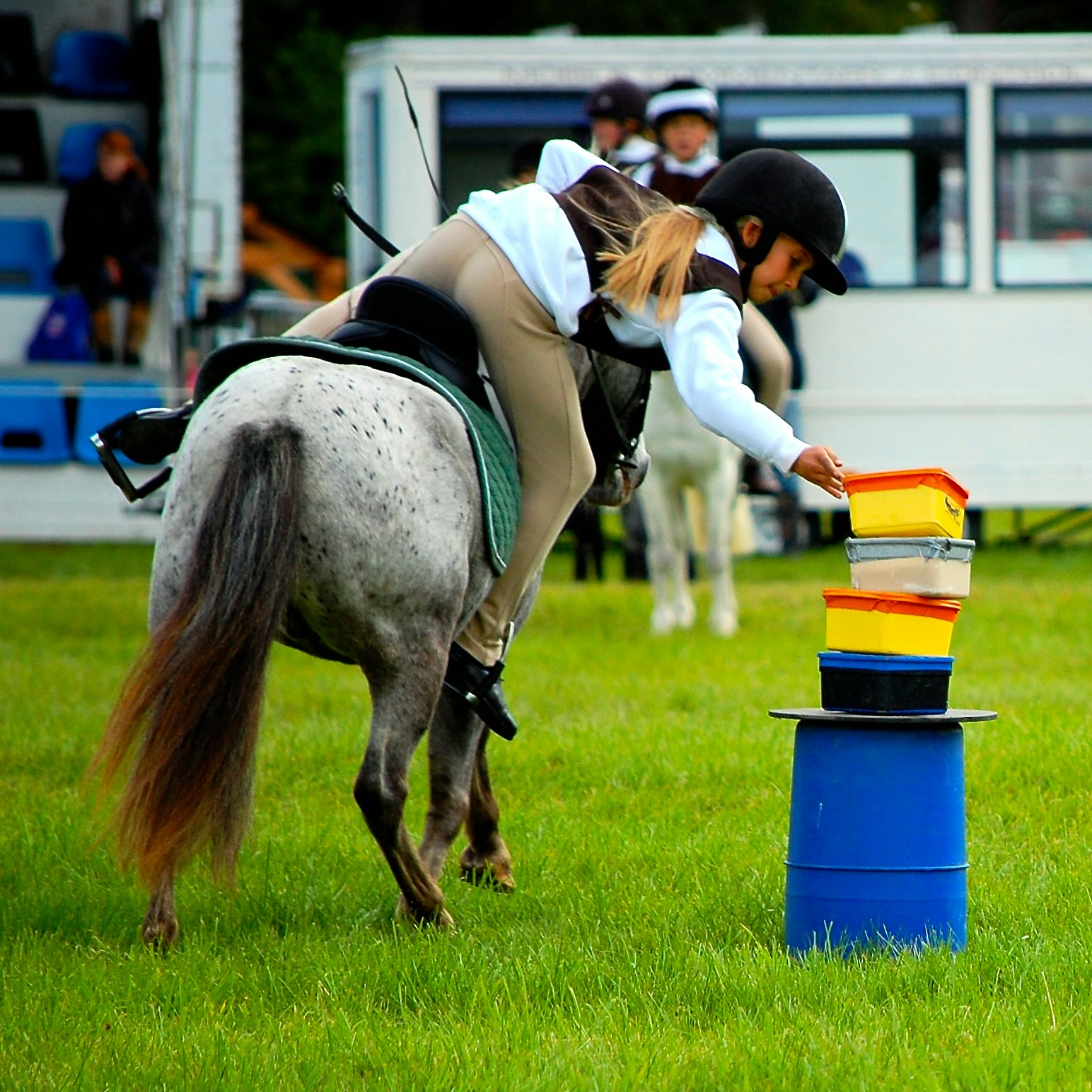 A young competitor at the Blair Castle International Horse Trials