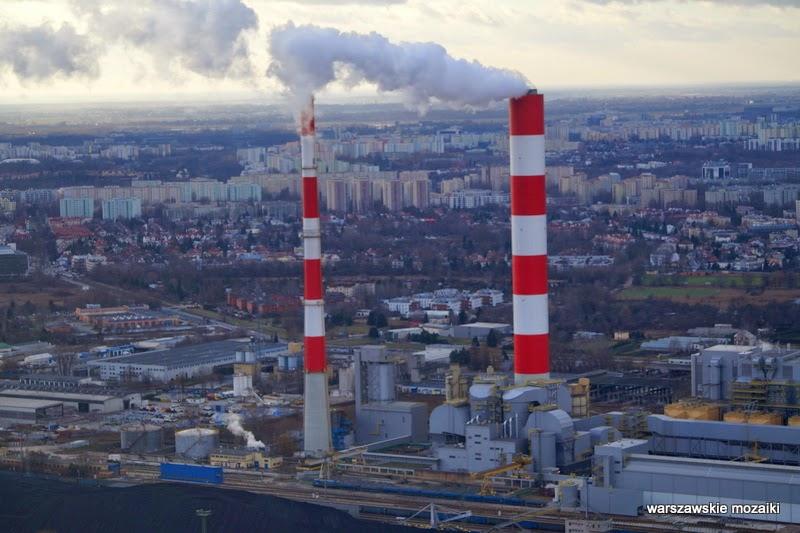 Warszawa miasto z lotu ptaka panorama miasta stolica Siekierki