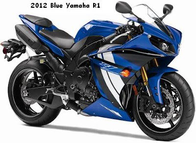 2012 Yamaha YZF-R1 blue white