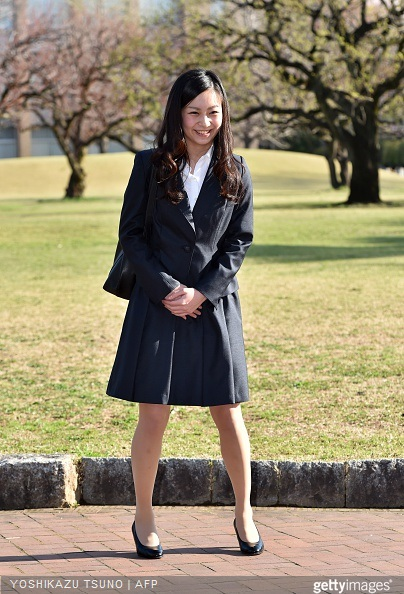 Japanese Princess Kako, younger daughter of the Emperor's second son Prince Akishino, arrives at the International Christian University (ICU) campus for an entrance ceremony to the university