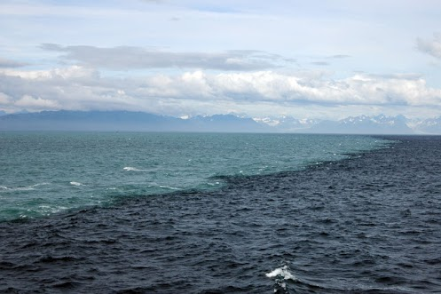 ... above is from Alaska where two seas/waters meet but don'tmix/mingle