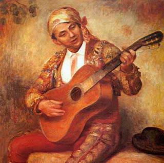 Guitarrista español - Pierre Auguste Renoir