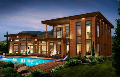 casa fachada de madera